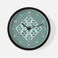 Cute Quilt block Wall Clock