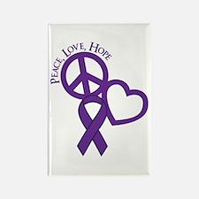 Peace,Love,Hope Rectangle Magnet