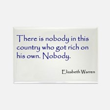 Warren Quote Rectangle Magnet