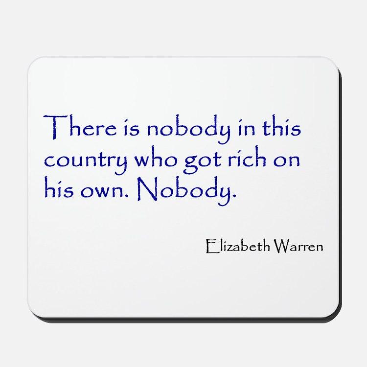 Warren Quote Mousepad