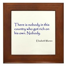 Warren Quote Framed Tile