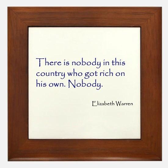 Warren Quote Framed Tile