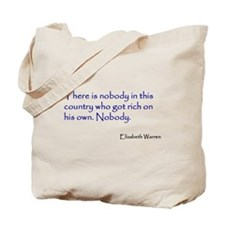 Warren Quote Tote Bag