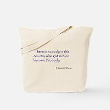 Warren Quote Tote Bag