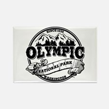 Olympic Old Circle Rectangle Magnet