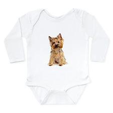 Yorkie Long Sleeve Infant Bodysuit