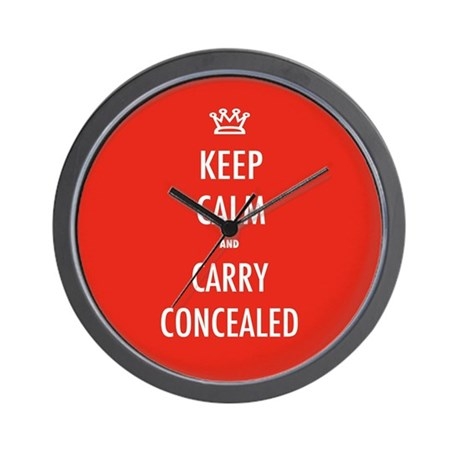 Carry Concealed Wall Clock