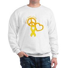 Peace, Love, Cure Sweatshirt