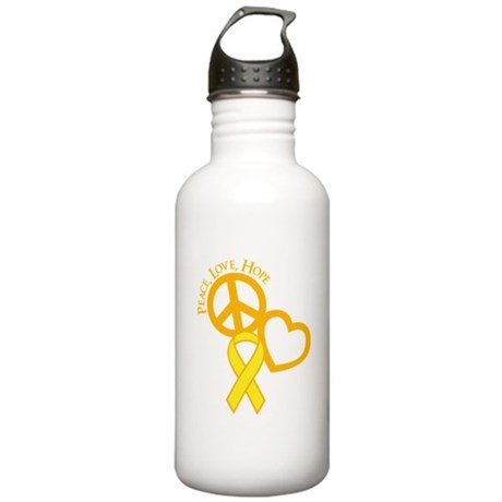 Peace,Love,Hope Stainless Water Bottle 1.0L
