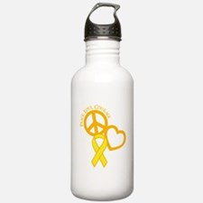 Peace,Love,Courage Water Bottle