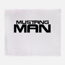 New Mustang Man Throw Blanket