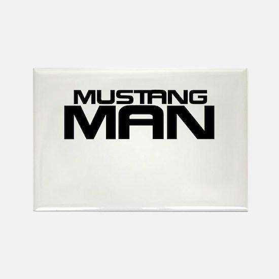 New Mustang Man Rectangle Magnet