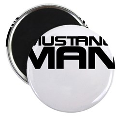 New Mustang Man Magnet