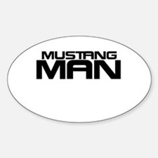 New Mustang Man Decal