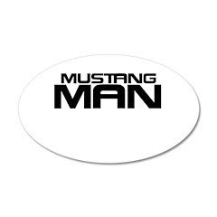 New Mustang Man 22x14 Oval Wall Peel