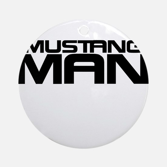 New Mustang Man Ornament (Round)