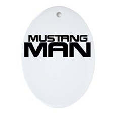 New Mustang Man Ornament (Oval)