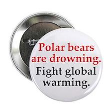 """Save the Polar Bears 2.25"""" Button"""