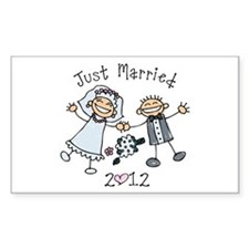 Stick Just Married 2012 Decal