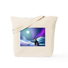 Contemplative Penguin Tote Bag