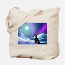 Contemplative Penguin Tote Bag