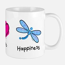 Peace Love and Dragonflies Mug