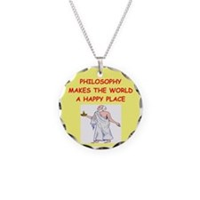 philosophy Necklace Circle Charm