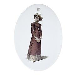 Jane Austen Ackermann 4 Ornament (Oval)