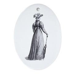 Jane Austen Ackermann 3 Ornament (Oval)
