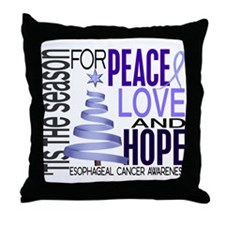 Christmas 1 Esophageal Cancer Throw Pillow