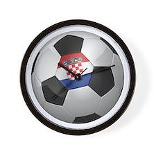 Croatian soccer ball Wall Clock