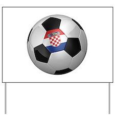 Croatian soccer ball Yard Sign