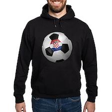 Croatian soccer ball Hoodie