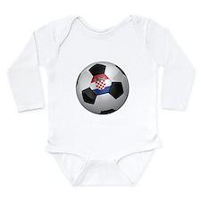 Croatian soccer ball Long Sleeve Infant Bodysuit