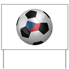 Czech soccer ball Yard Sign