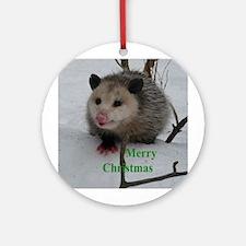Snow Possum Ornament (Round)