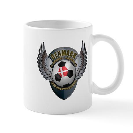 Danish soccer ball with crest Mug