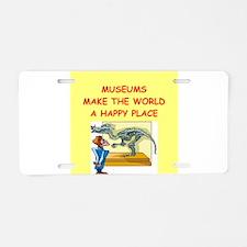 museum Aluminum License Plate