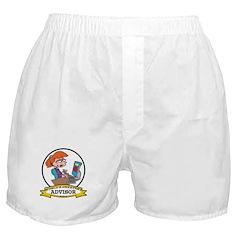 WORLDS GREATEST ADVISOR WOMEN Boxer Shorts