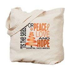 Christmas 1 Endometrial Cancer Tote Bag