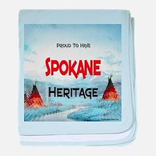 Spokane Heritage baby blanket