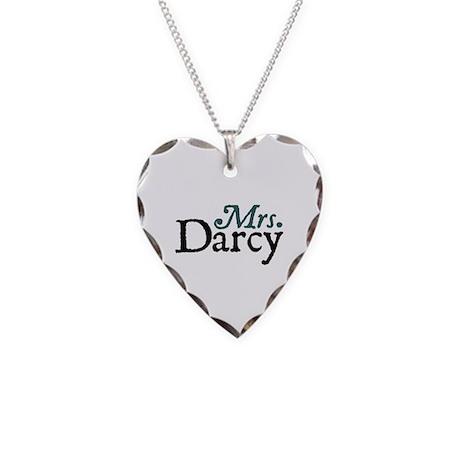Jane Austen Mrs. Darcy Necklace Heart Charm