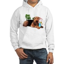 Airedale at the Beach by Vampire Dog Hoodie