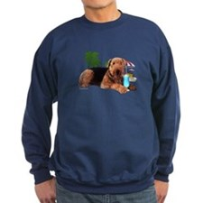 Airedale at the Beach by Vampire Dog Sweatshirt