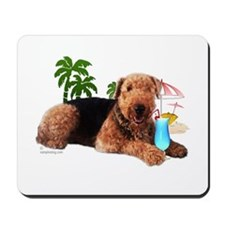 Airedale at the Beach by Vampire Dog Mousepad