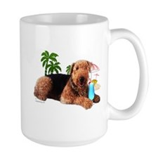 Airedale at the Beach by Vampire Dog Mug