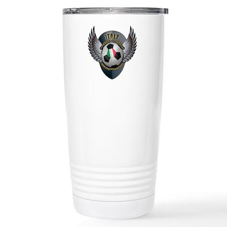 Italian soccer ball Stainless Steel Travel Mug