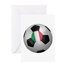 Italian soccer ball Greeting Card