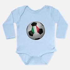Italian soccer ball Long Sleeve Infant Bodysuit