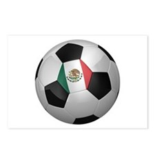 Mexican soccer ball Postcards (Package of 8)